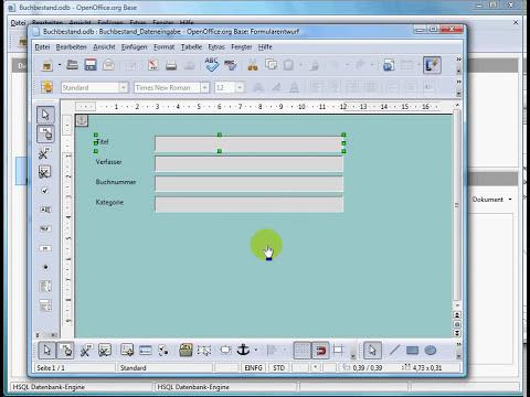 OpenOffice - Datenbank erstellen - 02 Formulare
