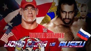 WWE Royal Rumble 2015 Johncena Vs Rusev (Flag Match) Full Match HD