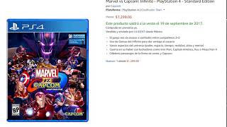Marvel vs Capcom: Infinite - PlayStation 4 sellado ulident