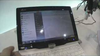 Testing Asus Eee PC T91 with multitouch