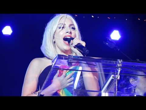 Lady Gaga Singing The National Anthem  The Nyc Pride Rally 2013 video