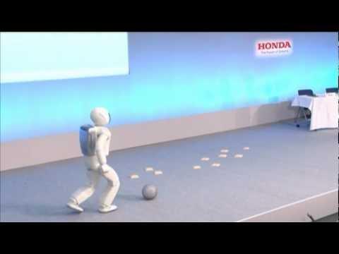 ASIMO Robot Demo 7/9: Kicking A Ball