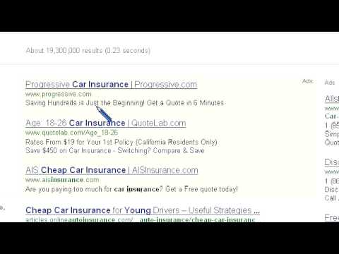 Search Engine Results - Cheap Car Insurance Young Website For Sale