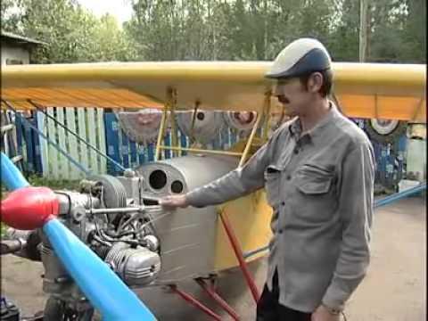 Самолет в гараже видео