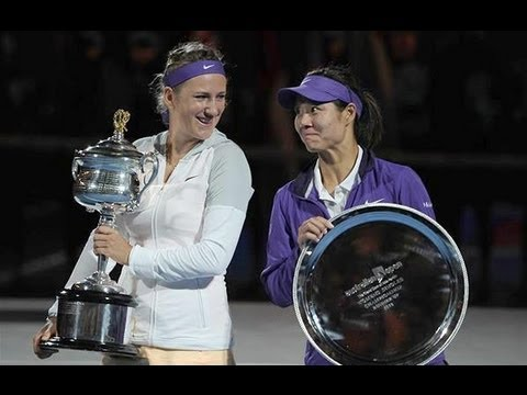 Australian Open 2013 Women Title Trophy Highlights