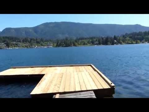 Lake Cowichan Escape Private Dock with Beach on Vancouver Island BC Canada