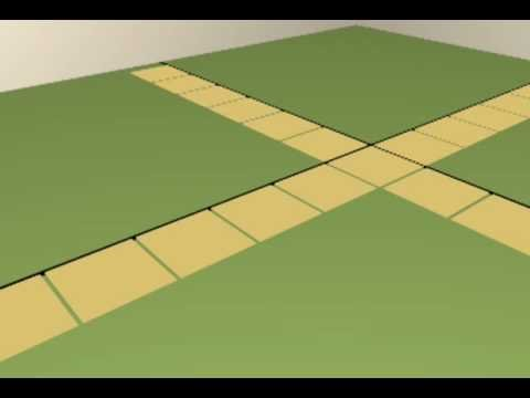 How to layout floor tile