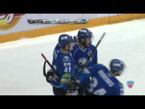 Гол Бойда в контратаке / Dustin Boyd scores and punches Andrei Zubarev