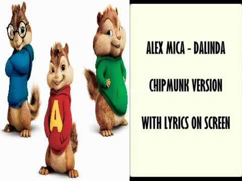 Alex Mica - דלינדה  Chipmunk Dalinda בגרסת הצ'יפמנקס+מילים Lsuperrrrr video