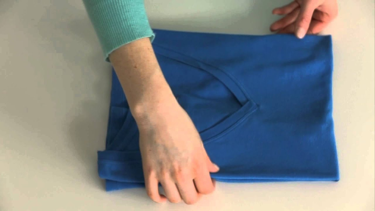 How to fold a t shirt youtube for Japanese way to fold shirts