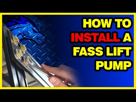 How to install a FASS lift pump with the new mounting system