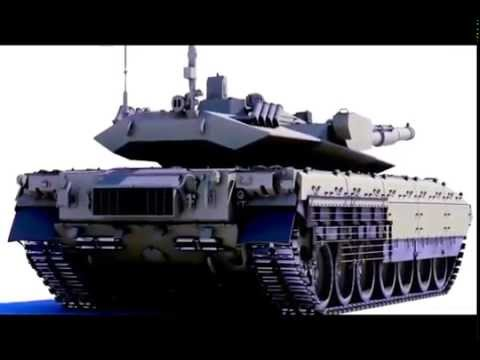 Russian MBT Armata Prototype Main Battle Tank 125-mm