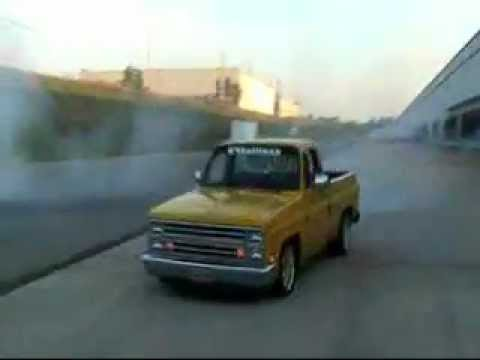 85 chevy silverado burnout 85