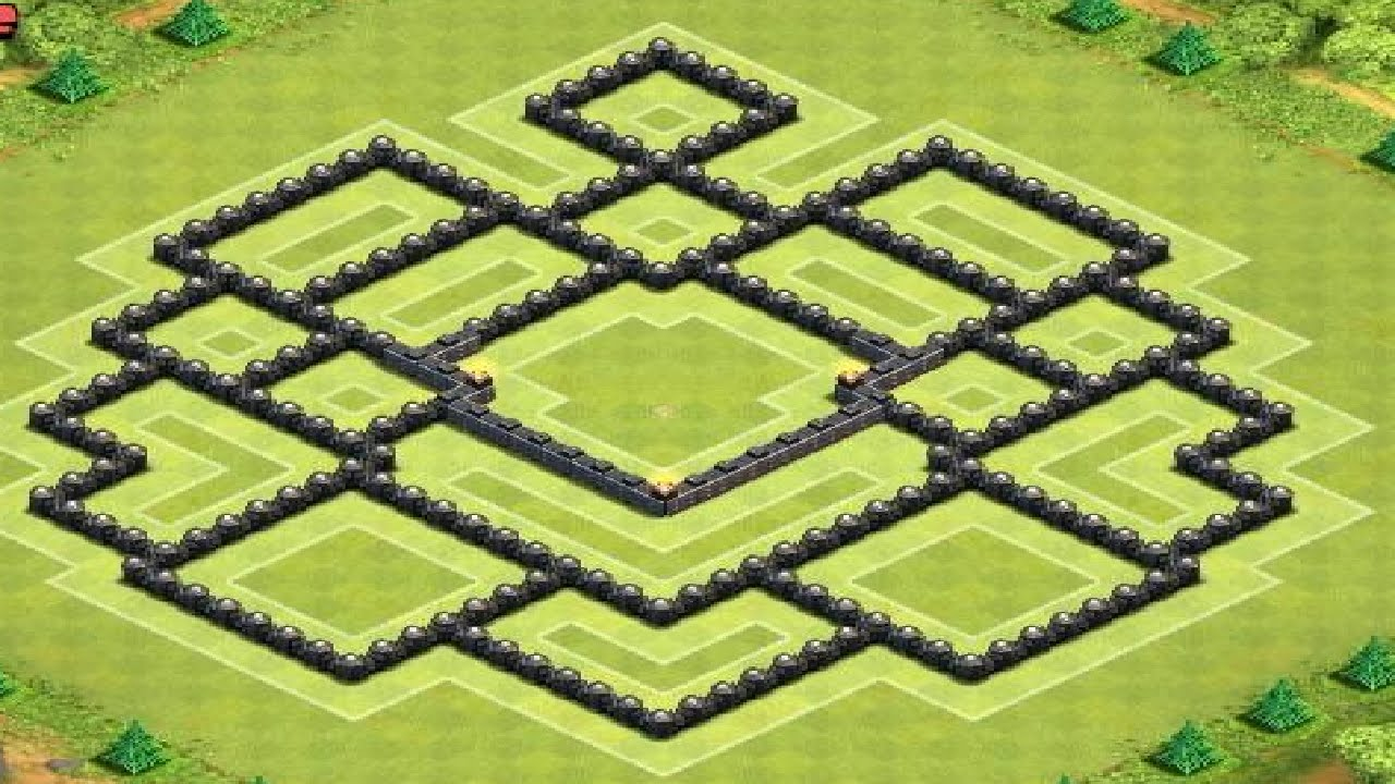 Clash of clans best th10 trophy war base layout youtube