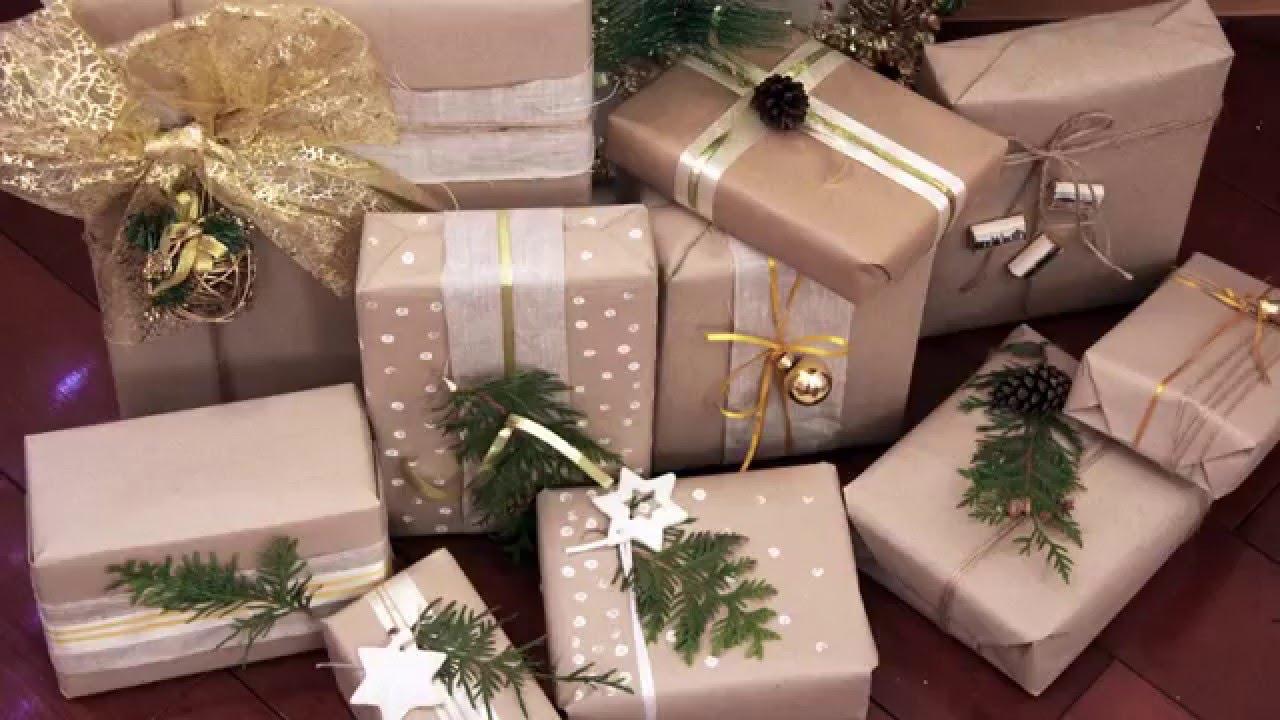 Упаковка подарка в крафт бумагу мастер класс 70