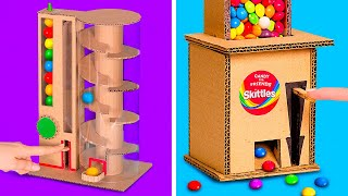 2 Amazing DIY Candy Dispensers || Easy Candy Dispensers from Cardboard