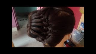 latest Hairstyles with braids in crown and ponytail#quickly and easily make a beautiful hairstyle