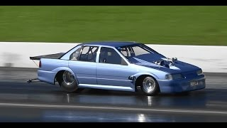RBKILA 6CYL FALCON TURBO 8.16 @ 163 MPH SYDNEY DRAGWAY 14.9.2014