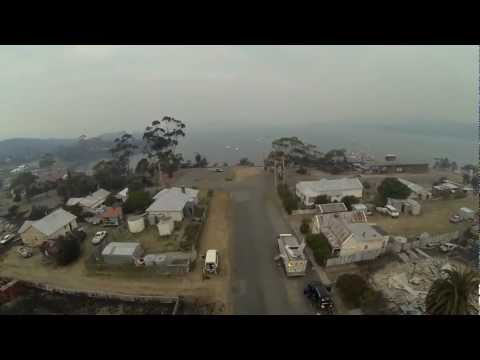 Quadcopter FPV fly over Franklin st Dunally
