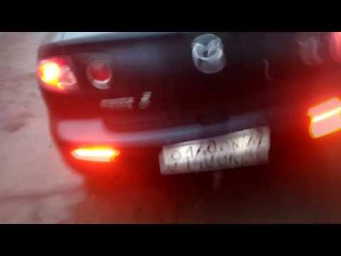 Подсветка в катафоты заднего бампера Мазда 3