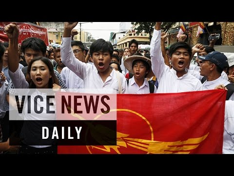 VICE News Daily: Students Stage Anti-Military Protest in Myanmar