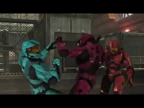 Red vs. Blue S8 Tex fights Reds and Blues in awesome action sequence