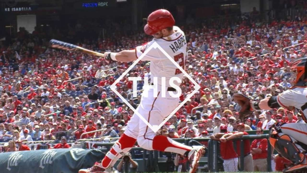 #THIS: Harper hits home run with patriotic bat