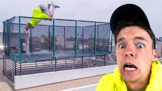 WORLD'S FIRST ROOFTOP TRAMPOLINE!!