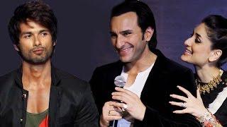 Shahid Kapoor UNITES with ex girlfriend Kareena Kapoors husband Saif Ali Khan