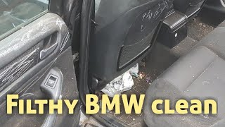 Cleaning a really dirty bmw car