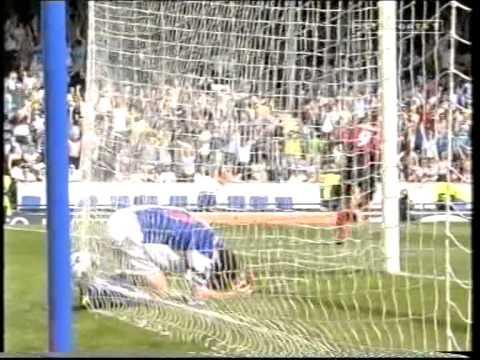 Manchester City in 2000 return to Premier league Blackburn away etc
