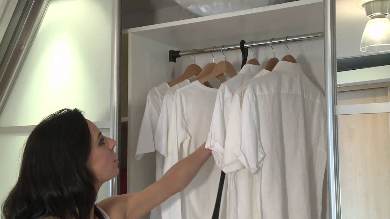 Sliderobes Wardrobe Pull Down Rail Youtube