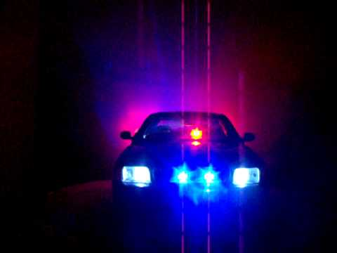 1/18 Undercover Black Ford Crown Vic Police Car Custom W/ PATTERN POLICE LIGHTS! Video