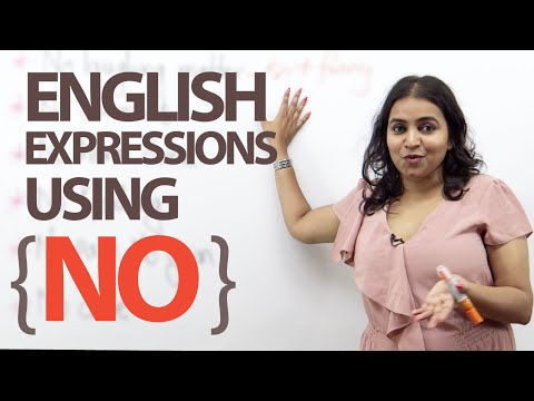 12 Spoken English Expressions With The Word 'no' - Free Esl Lesson video