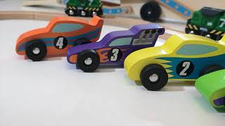 Building toys for Children, Learn numbers Colors, PLay Wooden Truck, Level Crossing, Train