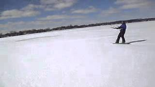 Snow Kite Tapping at Lake Lansing, MI, HQ Apex and Neo kite