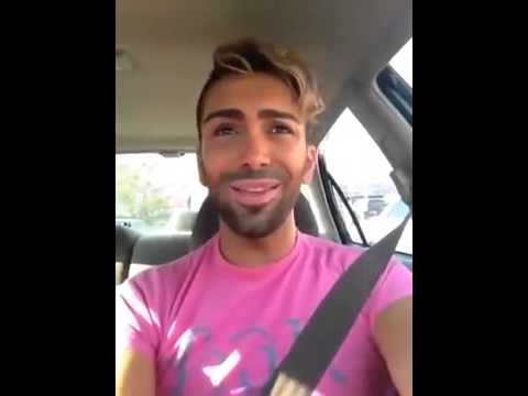 Gay Arab Singing In The Car video