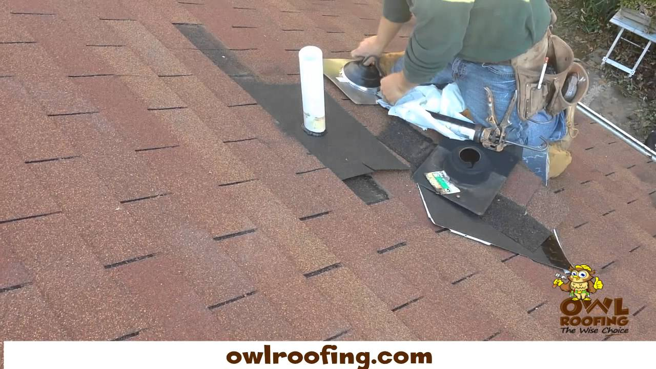 How To Replace A Roofing Pipe Boot Owl Roofing Youtube