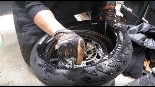 Hướng dẫn ae thay lốp xe ko cần máy
