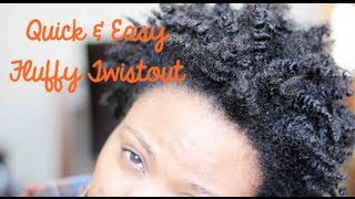 Quick & Effortless Twistout for Short Natural 4c Hair
