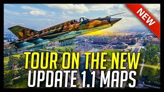► Jets and Gunships - New 1.1 Maps Tour! - World of Tanks Pilsen, Minsk and Studzianki Map Tour