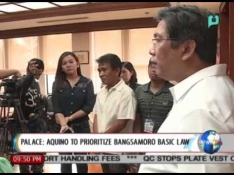 [NewsLife] Palace: Aquino to prioritize Bangsamoro Basic Law || Aug. 18, 2014