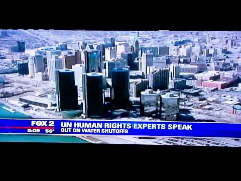 Detroit Water Shutoff Crisis 13 UN Nations Coverage