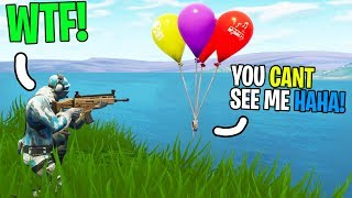 I got trolled by an INVISIBLE Kid in Fortnite Playground fills... (INVISIBLE 1v1 Build Battle)