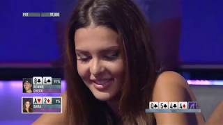 Amazing Poker Hand with a Hot Girl