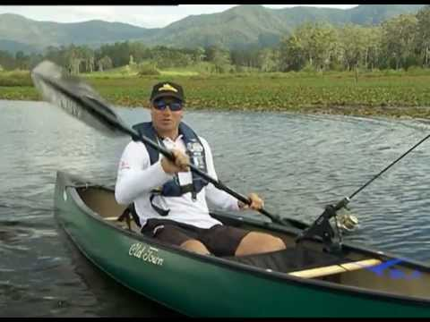 Old town guide 119 solo canoe fishing rig how to make for Solo fishing canoe