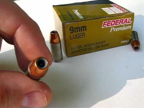 Ammo Test  9mm Luger - 147 Gr Hydra-Shok