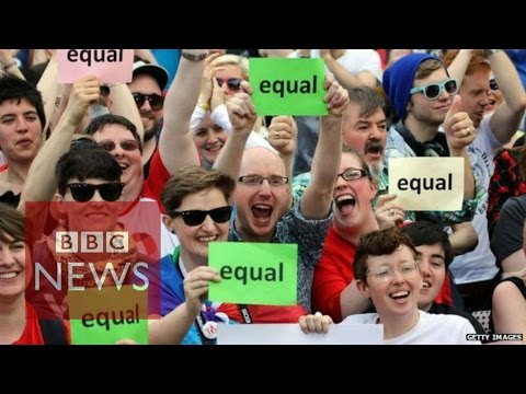 The Republic of Ireland has voted overwhelmingly to legalise same-sex marriage in a historic referendum. More than 62% voted in favour of amending the country\'s constitution to allow gay and lesbian couples to marry. It is the first country in the world to legalise same-sex marriage through a popular vote.  Subscribe http://www.youtube.com/bbcnews Check out our website: http://www.bbc.com/news  Facebook: http://www.facebook.com/bbcworldnews  Twitter: http://www.twitter.com/bbcworld Instagram: http://instagram.com/bbcnews