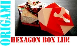 Origami Daily - 438: Hexagon Box Lid Ver 4. (modular 3 Unit) - Tcgames [hd]
