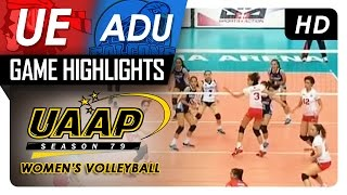 UE vs AdU | Game Highlights | UAAP 79 WV | March 5, 2017